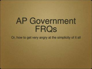 AP Government FRQs
