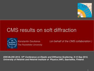 CMS results on soft diffraction