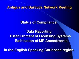 Antigua and Barbuda Network Meeting
