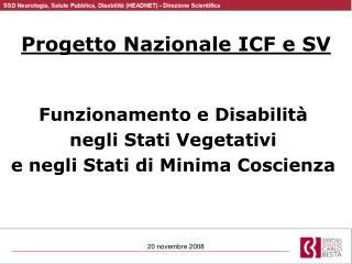 Progetto Nazionale ICF e SV
