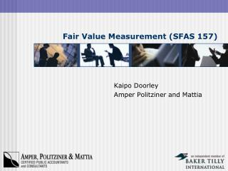 Fair Value Measurement (SFAS 157)
