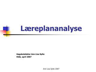 L�replananalyse