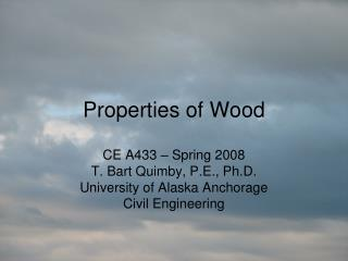 Properties of Wood