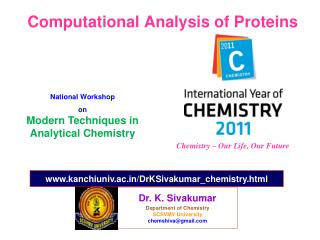 Computational Analysis of Proteins