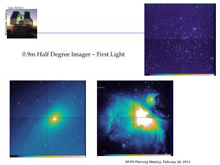 0.9m Half Degree Imager – First Light