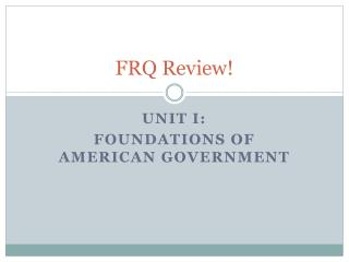 FRQ Review!
