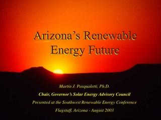 BIOMASS ENERGY   ARIZONA PUBLIC SERVICE COMPANY