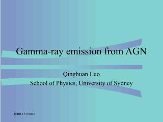 Gamma-ray emission from AGN