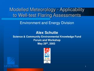 Modelled Meteorology - Applicability to Well-test Flaring Assessments