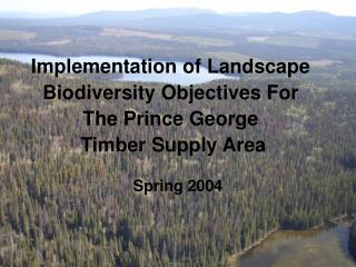 Implementation of Landscape Biodiversity Objectives For The Prince George  Timber Supply Area