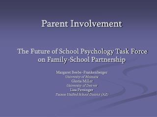 Parent Involvement – PI  Module Overview