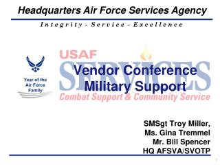 Vendor Conference Military Support