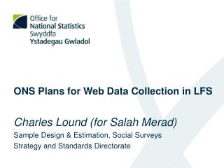 ONS Plans for Web Data Collection in LFS