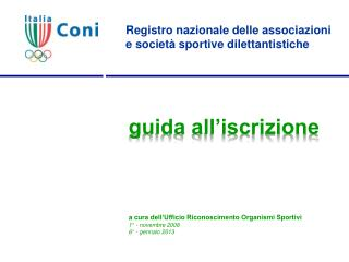 Registro nazionale delle associazioni e società sportive dilettantistiche