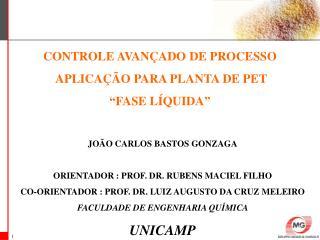 """CONTROLE AVANÇADO DE PROCESSO  APLICAÇÃO PARA PLANTA DE PET """"FASE LÍQUIDA"""""""