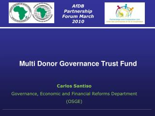 Multi Donor Governance Trust Fund