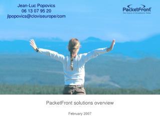 Jean-Luc Popovics 06 13 07 95 20 jlpopovics@cloviseurope/com