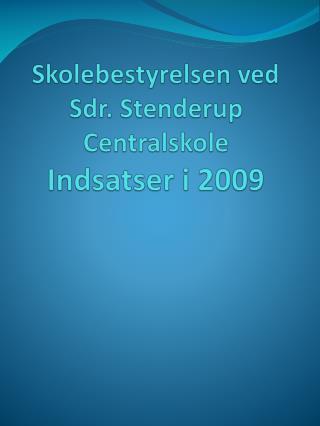 Skolebestyrelsen ved  Sdr. Stenderup Centralskole Indsatser i 2009