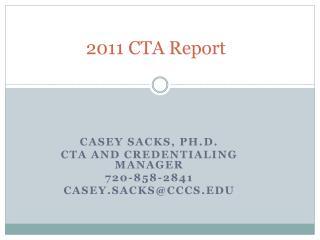 2011 CTA Report