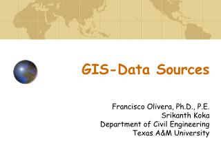 GIS-Data Sources