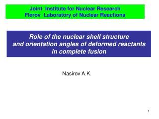 Nasirov A.K.