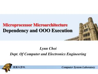 Microprocessor Microarchitecture Dependency and OOO Execution