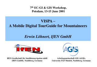 7 th  EC-GI & GIS Workshop , Potsdam ,  13-15 June 2001