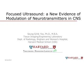 Focused Ultrasound: a New Evidence of Modulation of Neurotransmitters in CNS