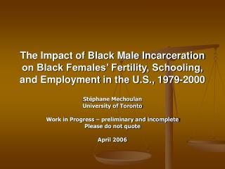 The Impact of Black Male Incarceration on Black Females  Fertility, Schooling, and Employment in the U.S., 1979-2000