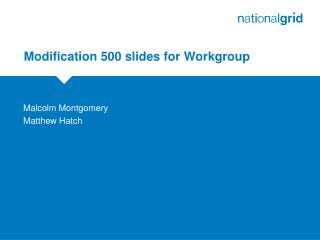 Modification 500 slides for Workgroup