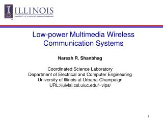 Low-power Multimedia Wireless Communication Systems