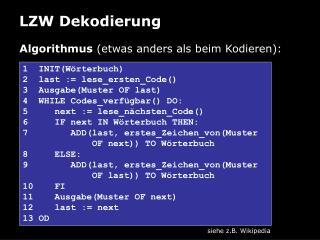 LZW Dekodierung