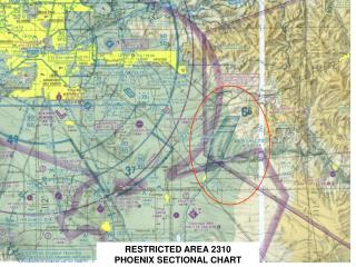 RESTRICTED AREA 2310    PHOENIX SECTIONAL CHART