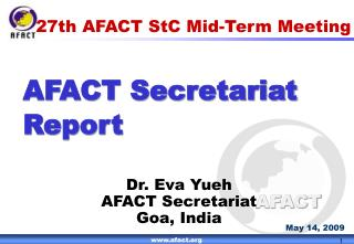 27th AFACT StC Mid-Term Meeting