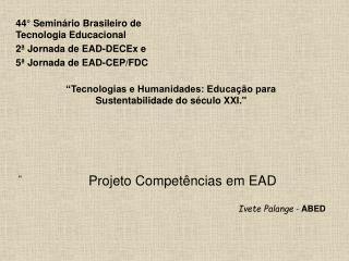 Projeto Compet�ncias em EAD
