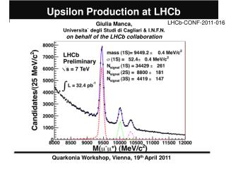 Upsilon Production at LHCb