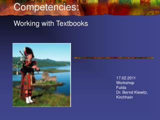 Competencies: Working with Textbooks