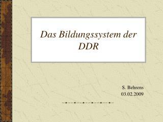 Das Bildungssystem der  DDR