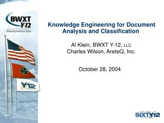 Knowledge Engineering for Document Analysis and Classification