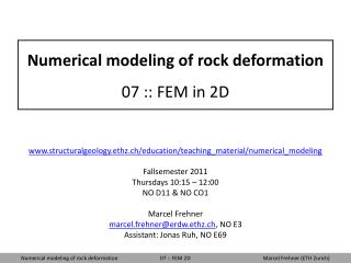 Numerical modeling of rock deformation 07 :: FEM in 2D