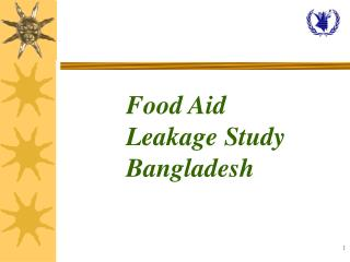 Food Aid  Leakage Study Bangladesh