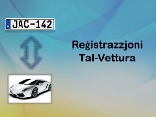 Reġistrazzjoni Tal-Vettura