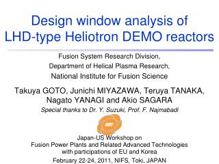Design window analysis of  LHD-type Heliotron DEMO reactors