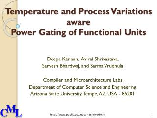 Temperature  and Process  Variations  aware  Power  Gating of Functional Units