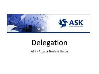 Delegation ASK - Arcada Student Union