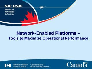 Network-Enabled Platforms – Tools to Maximize Operational Performance