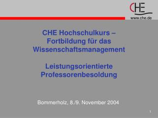 Bommerholz, 8./9. November 2004