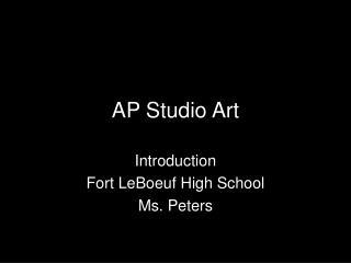 AP Studio Art