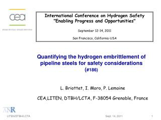Quantifying the hydrogen embrittlement of pipeline steels for safety considerations ( #186)