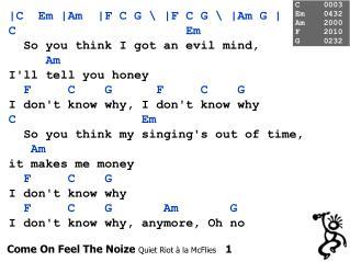 Come On Feel The Noize  Quiet Riot à la McFlies    1